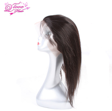 Queen Love Hair 360 Lace Frontal Wigs Closure Malaysia Hair Straight Remy Hair Natural Colol Human Hair