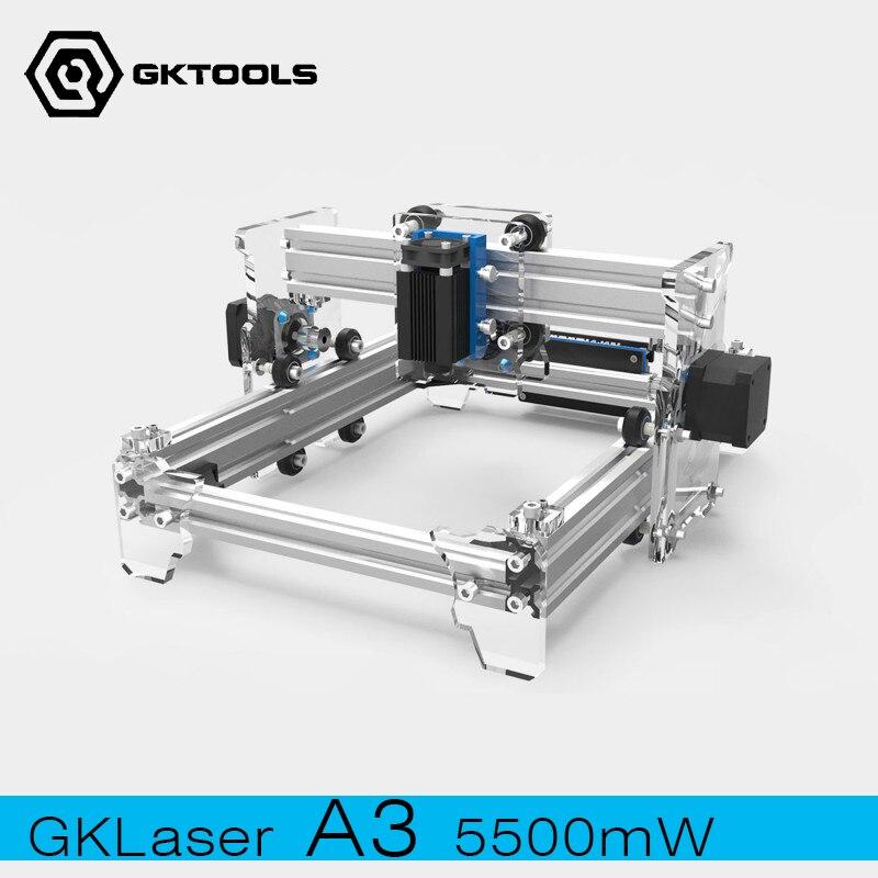 GLaser-2013  20x13cm  DIY Mini Laser Engraving Machine 5500mW Laser Power PWM Control Benbox GRBL Laser Engraver glaser s32205 00 glaser комплект прокладок двигатель