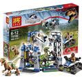 406 unids bela 79180 mundo parque jurásico dinosaurio raptor bloques de construcción juegos de escape hoskins compatible con lego