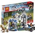 406Pcs Bela 79180 Jurassic World Park Raptor Escape Building Blocks Kits Sets Hoskins dinosaur Compatible With Lego