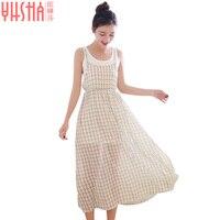 Summer New Fashion Hot Sales Women Dresses Long Sleeveless Girls Dress Female Free Shipping