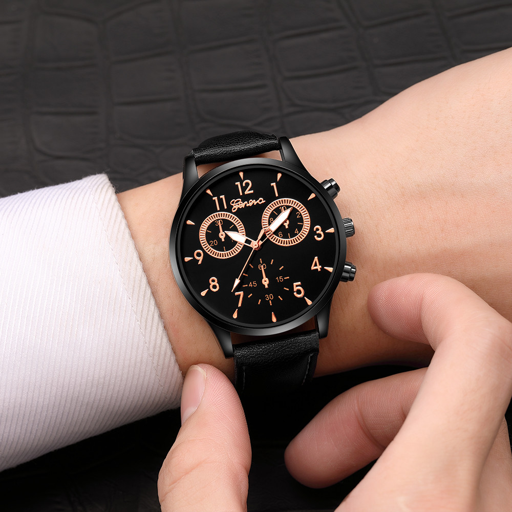 Zerotime #501 Waterproof Men's Leather Military Casual Analog Quartz Wrist Watch Business Luxury top gifts Analog Free shipping