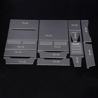 14pcs Leathercraft Acrylic Long Style Wallet Purse Pattern Stencil Template