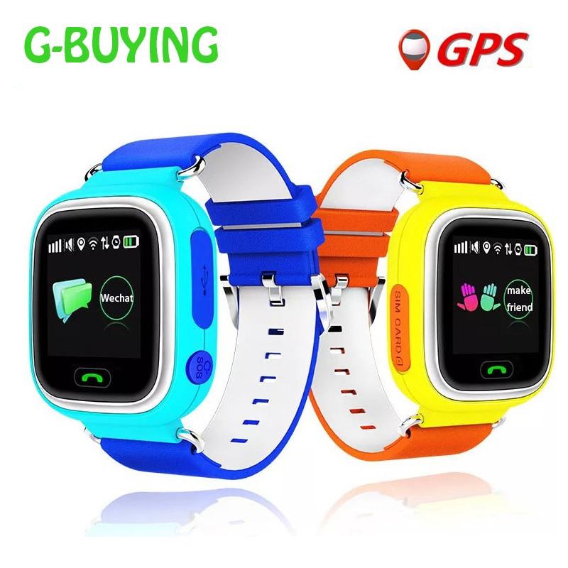 imágenes para GPS reloj inteligente reloj bebé Q90 con Wifi pantalla táctil SOS de Localización de llamadas DeviceTracker de Seguros para Niños Anti-Perdido Monitor PK Q80 Q60