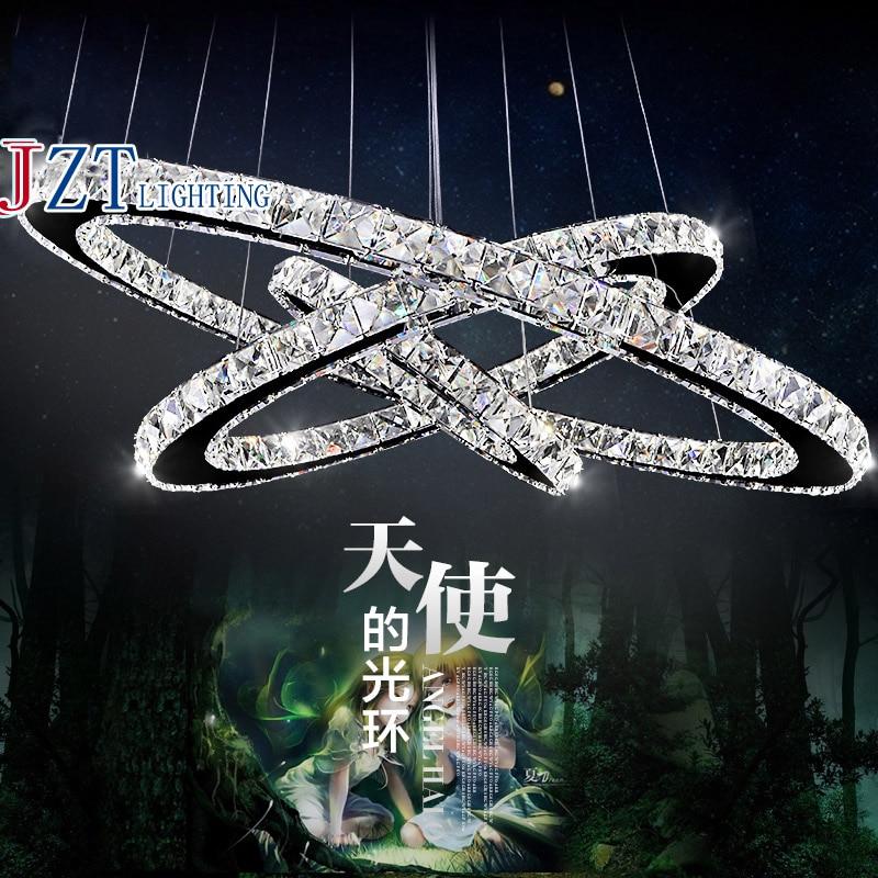 цены на M 3 Head Creative Personality K9 Crystal Pendant Lamp AC110 To 240V Ring Diamond Restaurant Amber Or Transparent Color Light в интернет-магазинах