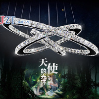 M 3 Head Creative Personality K9 Crystal Pendant Lamp AC110 To 240V Ring Diamond Restaurant Amber