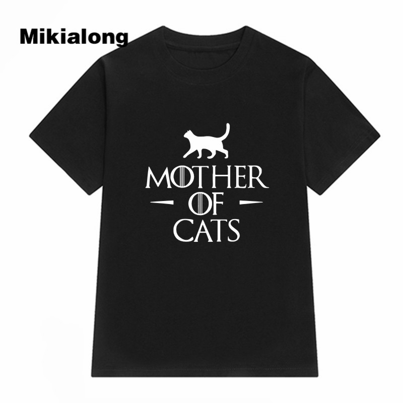 Cat   T     Shirt   2019 Women MOTHER OF CATS Printed Female   T  -  shirt   Kawaii Cute Summer Top Tee   Shirt   Femme Black White Camisetas Mujer
