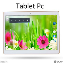 10 Pulgadas Llamada de Teléfono Android Quad Core Tablet pc Android 4.4 2 GB 16 GB WiFi 3G External GPS FM Bluetooth 2G + 16G Tablets Pc