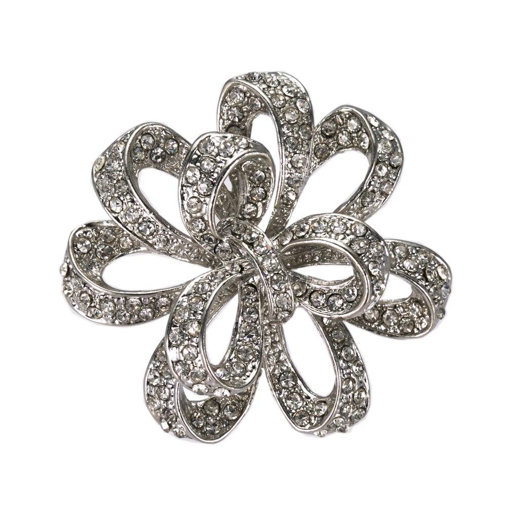 A granel 30 Encantos Corazón con Diamantes de Imitación H10 Tono Plata Antigua