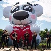 Индивидуальные гигантские надувные мишки надувные пятнистая с красным сердцем для музыки Show