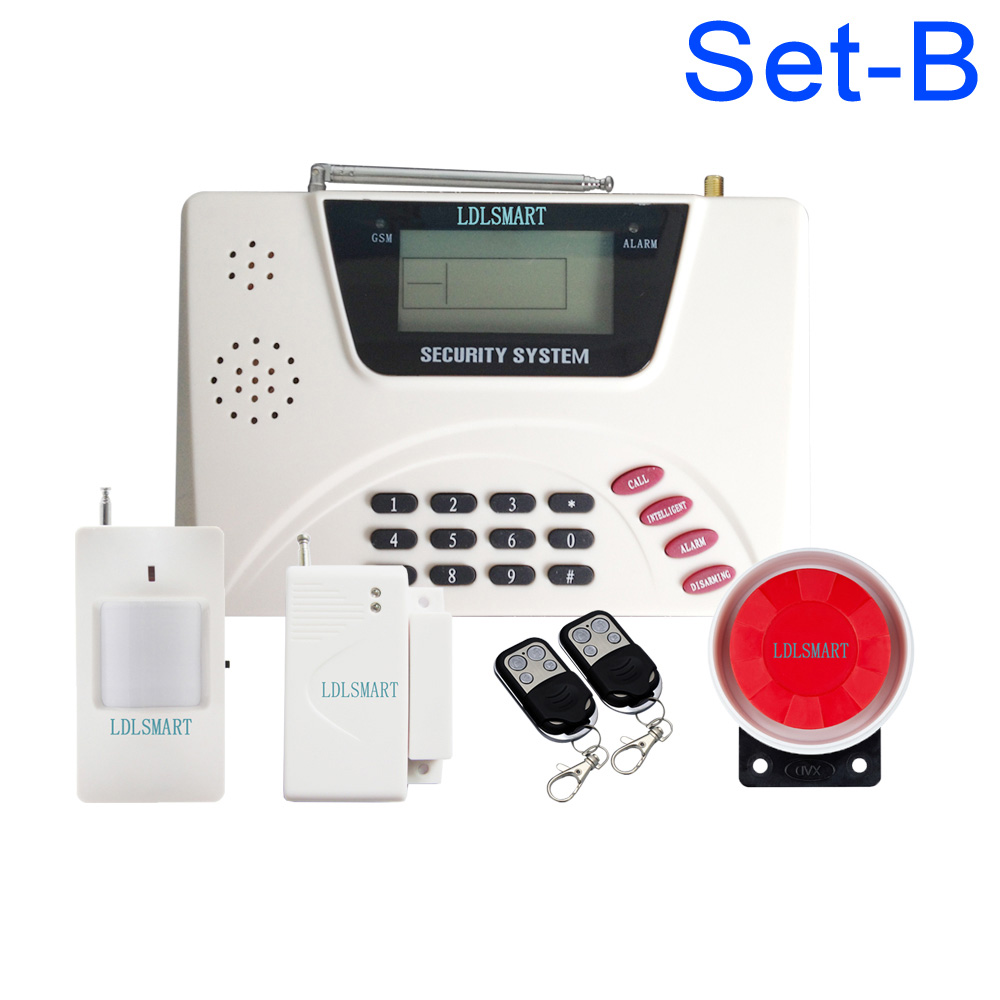 Wireless 99 zones GSM PSTN alarm system for house office home protection russia manual support