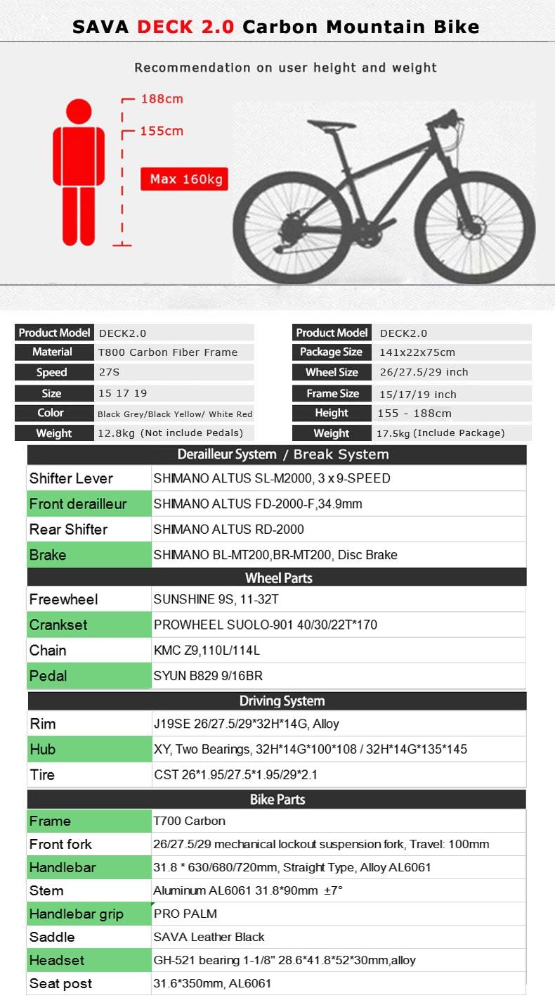 HTB16hTTNPTpK1RjSZKPq6y3UpXaf SAVA mountain bike 29 mtb Carbon Mountain Bike 29 Men mtb DECK2.0 Mountainbike Bicycle Bikes Mens mountain 29 bicicleta mtb