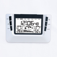 Multi Function Digital Alarm Clock with Weather Station Student Electronic Clock Snooze Function Table Clocks Desktop Watch