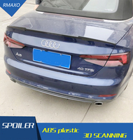 For Audi A5 Spoiler Audi Coupe TWO DOORS ABS Material Car Rear Wing Primer Color Rear Spoiler For Audi A5 Spoiler 2014 2017