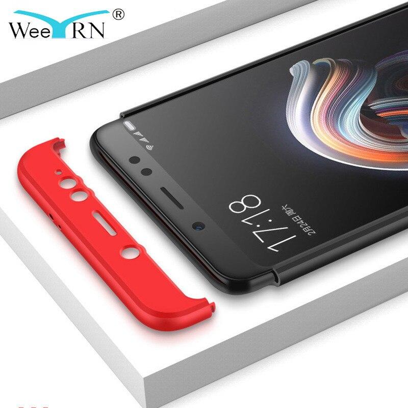 size 40 ba21d 6324b Weeyrn 360 Full Hard Case Xiaomi Redmi Note 5 Pro 5A Prime 4X Xiaomi Redmi  5 Plus 5A 4X 4A S2 Xiaomi Mi 8 8SE 6 A1 A2 Mix 2 2S