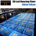 Гуанчжоу TIPTOP Этап Свет 50 см х 50 см Свадебные Дискотека пол Звезды Эффект/RGB Цвет Партия Показать Открытый 3D Зеркало тип