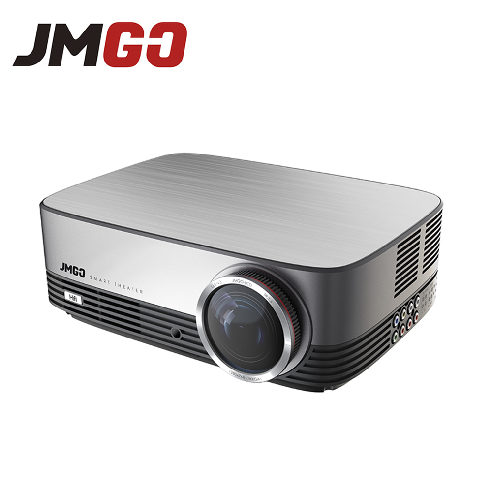 JMGO A6 LED Projector, 300 ANSI Lumens, 1280x768, Set in Android, WIFI, Bluetooth, HDMI, USB, VGA, Support Full HD Video aun projector 3200 lumen t90 1280 768 optional android projector with 2 4g air mouse bluetooth wifi support kodi ac3 led tv