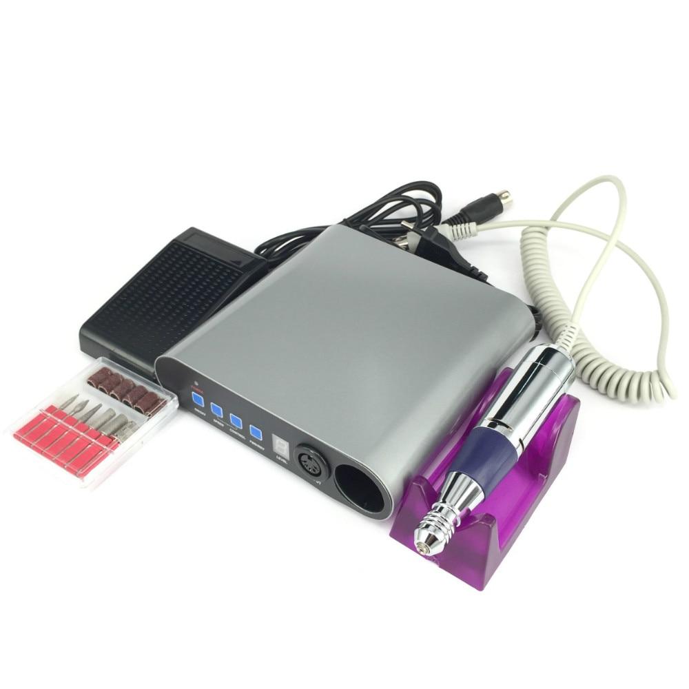 30000 об./мин. Профессиональный электрический акриловый пилочка для ногтей маникюр комплект 110 220 В ЕС Plug Дизайн ногтей Инструменты для маникюр