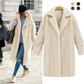 New Fashion Women's Winter Cashmere Fur Wool Coat Slim Long Thick Womens Cashmere Coat manteau femme 2016