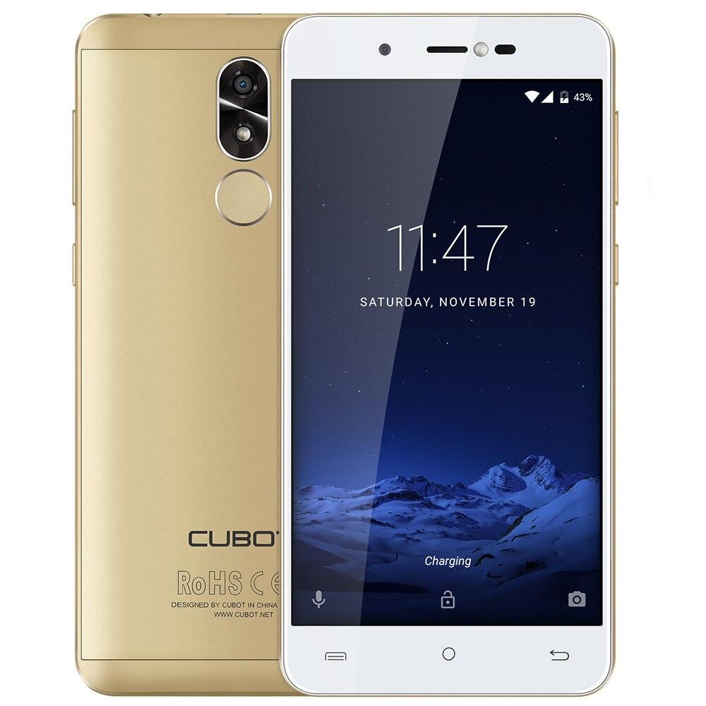 CUBOT R9 мобильный телефон Android 7,0 13MP + 5MP двойной камеры 5,0 ips HD Экран 4 ядра 2 ГБ + 16 ГБ MTK6580A 3g смартфоны с идентификацией по отпечатку пальца