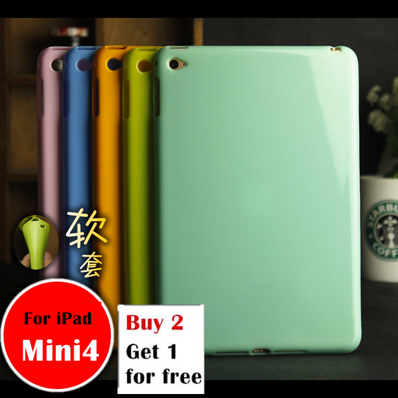 Mini4 case For Apple iPad mini4 mini 4 A1538 A1550 tablet case Soft Silicone TPU Back Cover Case Protetcive shell nice soft silicone back magnetic smart pu leather case for apple 2017 ipad air 1 cover new slim thin flip tpu protective case