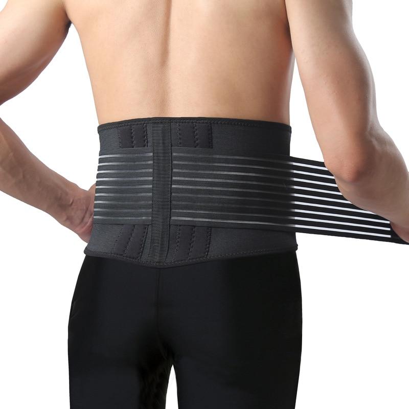 AOPI Professional Sports Basketball Waist Support High Elastic Waterproof Belt Ajustable Brace Fitness Gym Lumbar BackProtecter
