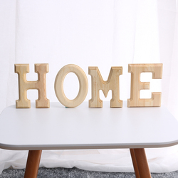 1pc New Popular Height 15 cm 26 White Alphabet Wooden Letters Wedding Party Decor with Natural Smell Handicraft