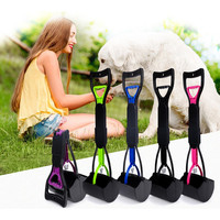 Foldable Pets Waste Poo Scoop Picker Dog Cat Pooper Scooper Long Handle Cleaning Tool Pick Up