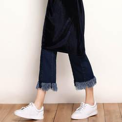 Calca Spodnie Damskie Jeansy Femme для женщин летние Высокая талия стрейч таллас Grandes корейский хлопок джинсовые длинные джинсы штаны