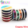 0.8MM 3M/Roll Copper Wire 2015 new mixed multicolor plated Beading Wire Jewelry Findings DIY Jewelry Accessories  Cord/String
