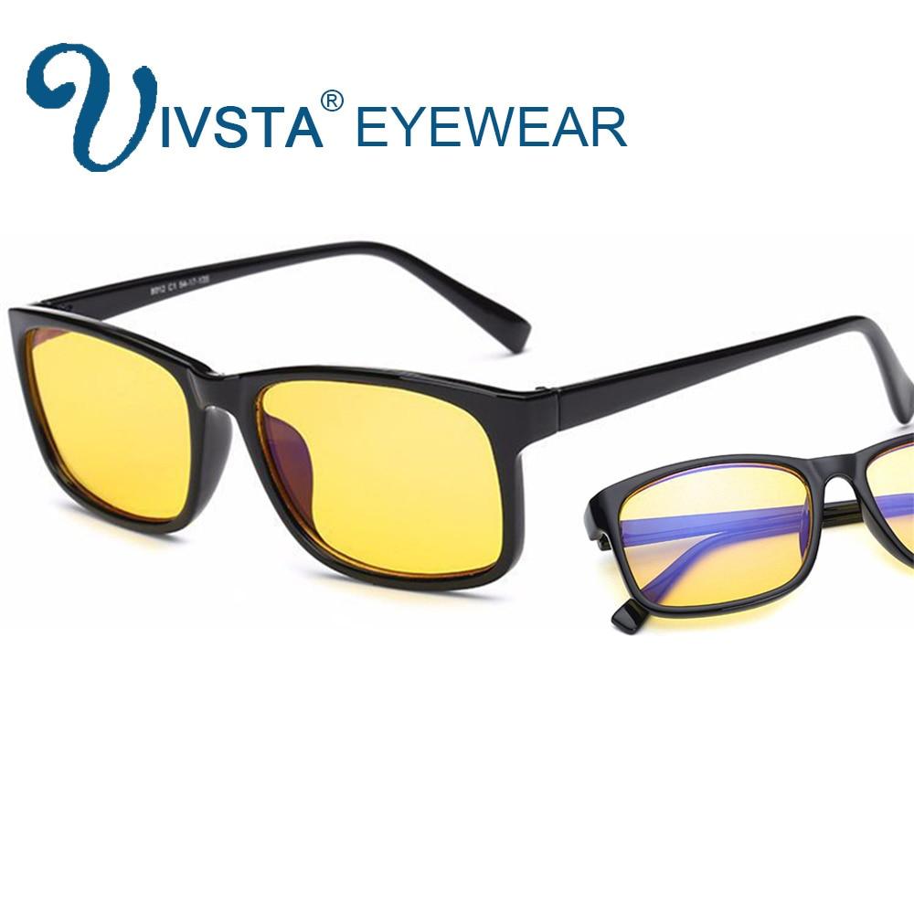 IVSTA anti blue rays computer Glasses Men Blue Light Coating Gaming Glasses yellow lenses protection eye Retro Spectacles H012