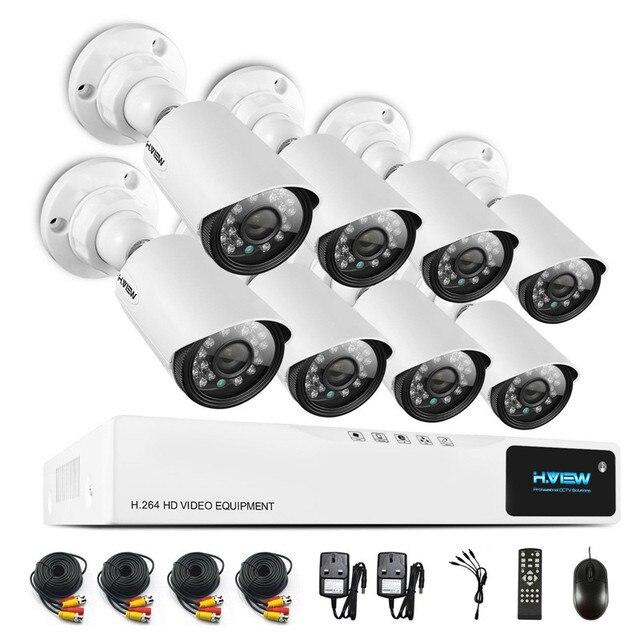 8-КАНАЛЬНЫЙ Система ВИДЕОНАБЛЮДЕНИЯ 720 P NVR 8 ШТ. 1.0MP ИК Всепогодный Открытый Крытый Видеонаблюдения Главная Камеры Системы Безопасности 8-КАНАЛЬНЫЙ DVR Kit
