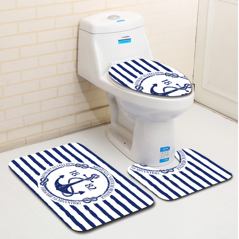 Miraculous 2019 Plastic Bathroom Mat Sets Foam Bathroom Floor Mat Blue And White Stripes Anchor Pattern Carpet Non Slip From Aldrichy 38 14 Dhgate Com Gamerscity Chair Design For Home Gamerscityorg