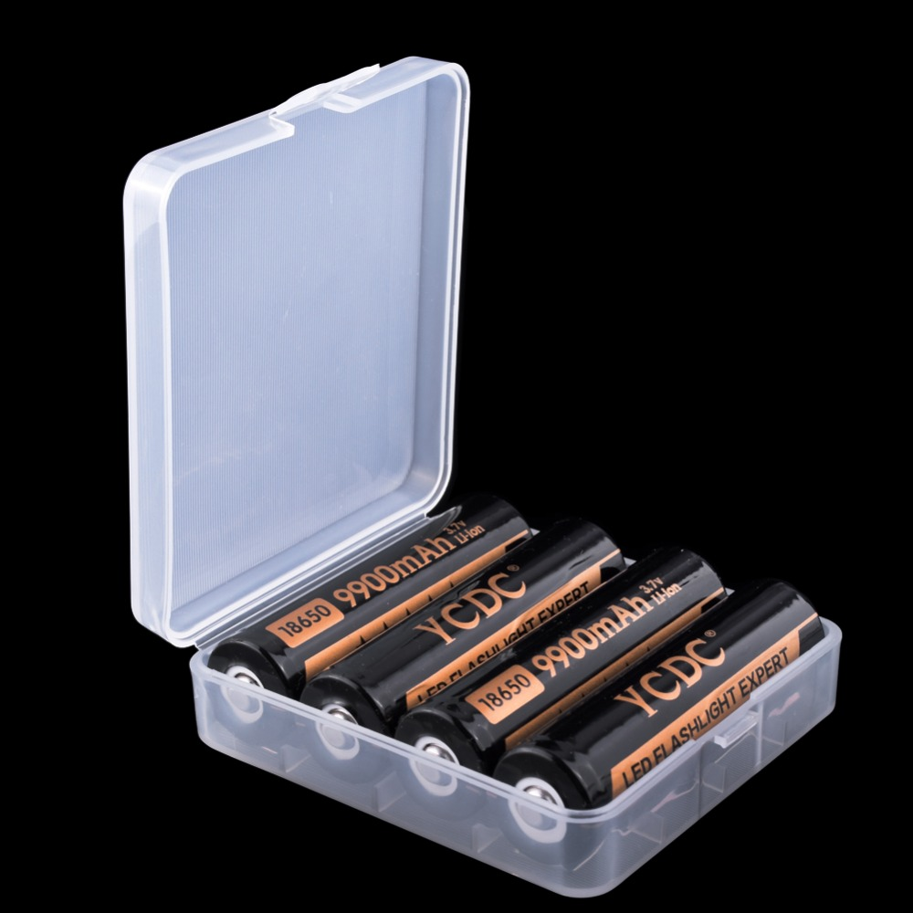 YCDC Hard-Case-Holder Cases Battery-Storage-Box 4xaaa Rechargeable-Battery-Power-Bank