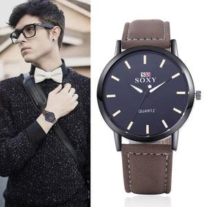 2018 Luxury Business Brand Watch Leather Quartz Sport Brand Watch Men Hour Clock Relogio cheap price watches for man