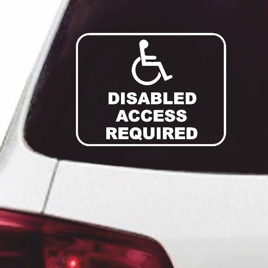 1419cm disabled access required vinyl car van sticker wheelchair funny car window bumper novelty