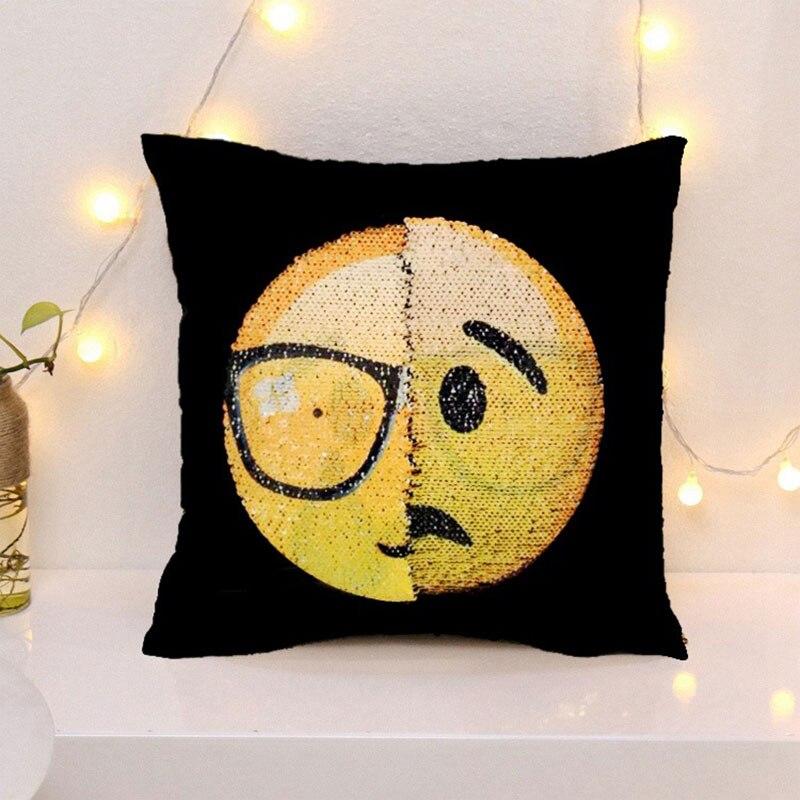 Creative Home Textile Emoji Cushion Decorative Chair Pillows Cartoon Throw Pillows Cafe Home Decor Car Sofa Office Cushion Cove