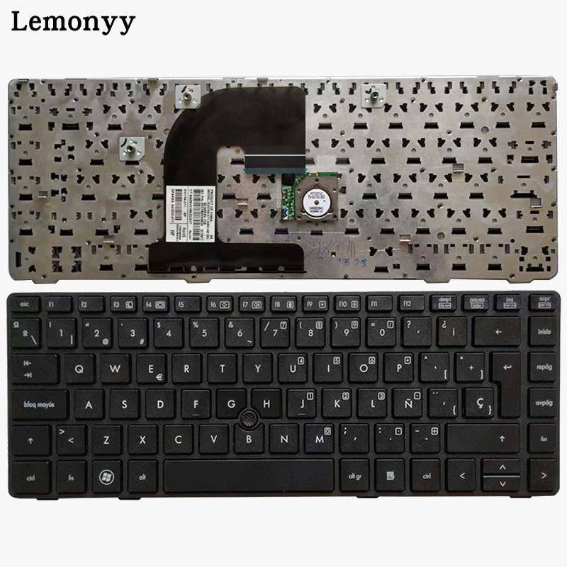 NEW Spanish laptop <font><b>Keyboard</b></font> For <font><b>HP</b></font> <font><b>EliteBook</b></font> 8470B 8470P 8470 8460 <font><b>8460p</b></font> 8460w ProBook 6460 6460b 6470 with frame/Point Stick image