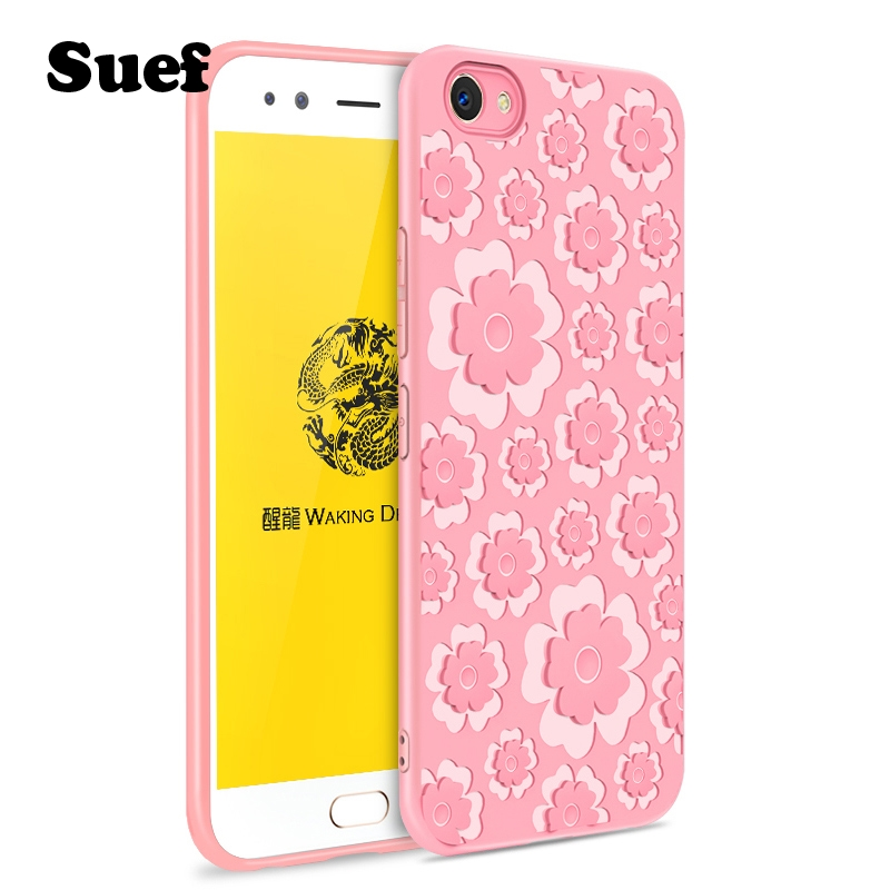premium selection 2b779 94b40 US $4.99 |Flowers Anti knock Case For VIVO V5 plus Cover Case 5.5inch VIVO  V5plus Silicone Coque VIVO V 5 plus Cover vivo X9 X9s-in Fitted Cases from  ...