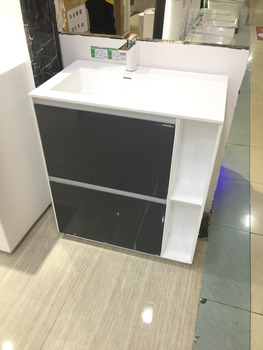 750mm Floor Mounted Sacrylic Resin Washbasin Solid Surface Vanity Cloakroom Acrylic Stone Cabinet Storage 2945 0 Leather Bag