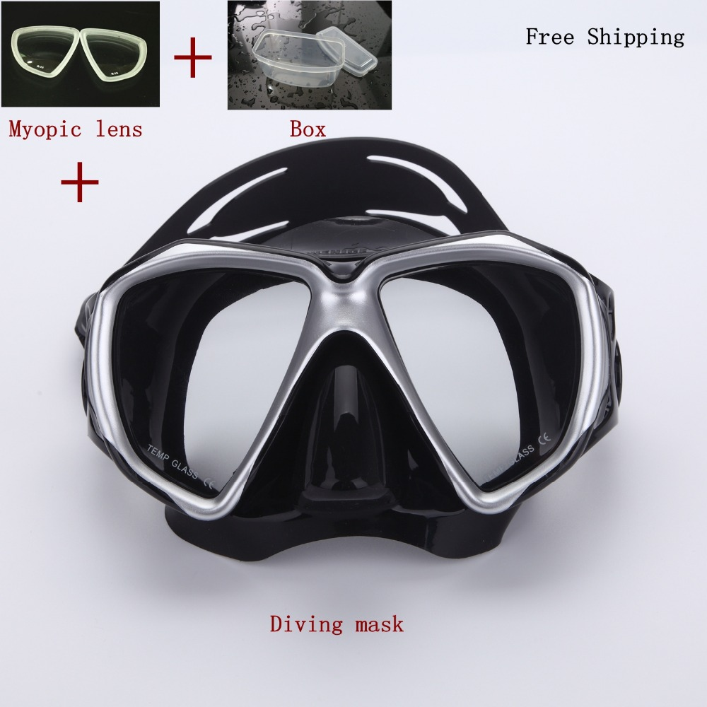 ФОТО frogproof   diving Mask with myopic lens 150-900 degree ,myopia scuba gear,swimming mask,oculos de mergulho,gafas buceo
