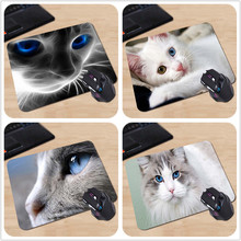 Blue Eye cat Rubber Soft Gaming Mouse Games Black Mouse pad 18*22cm and 25*29cm