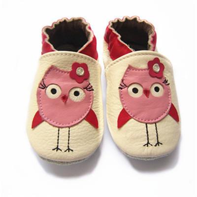 Ventas al por mayor Genuino de Cuero Estampados de Animales Recién Nacido Niña niño Arco Bebé Zapatos Mocasines Calzado de Suela Blanda zapatos del Pesebre Primeros caminante