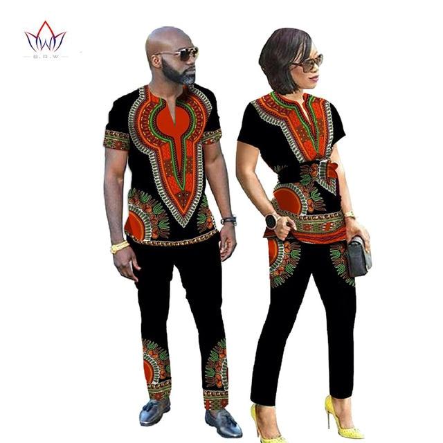 5b8decb781 Afrikanische Kleider für Frauen Neue Designs Paar Kleidung für Liebhaber  Dashiki Männer Hemd Langarm Marke-