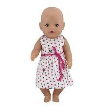 New Dress Wear For 43cm Zapf Baby Born Doll 17 Inch Reborn Babies Dolls Clothes