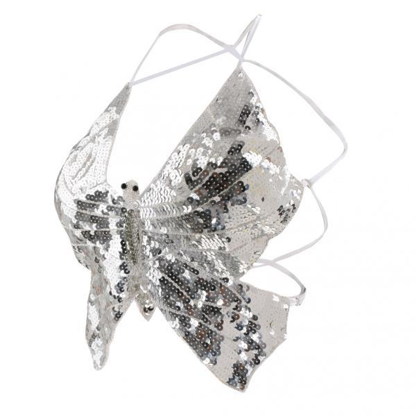 Phenovo Belly Dance Butterfly Top Bra  Dancing Costume Stunning Silver