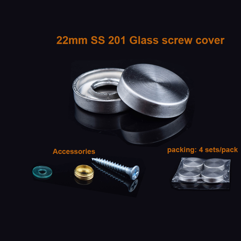 DHL Free shipping 1000sets 201 Stainless steel mirror nail / decorative cover / Advertising screws / <font><b>22mm</b></font> image