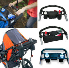 Universal Baby Pram Buggy Organiser Pushchair Stroller Storage Cup Holder Bag  Travel Diaper Nappies Storage Bag New