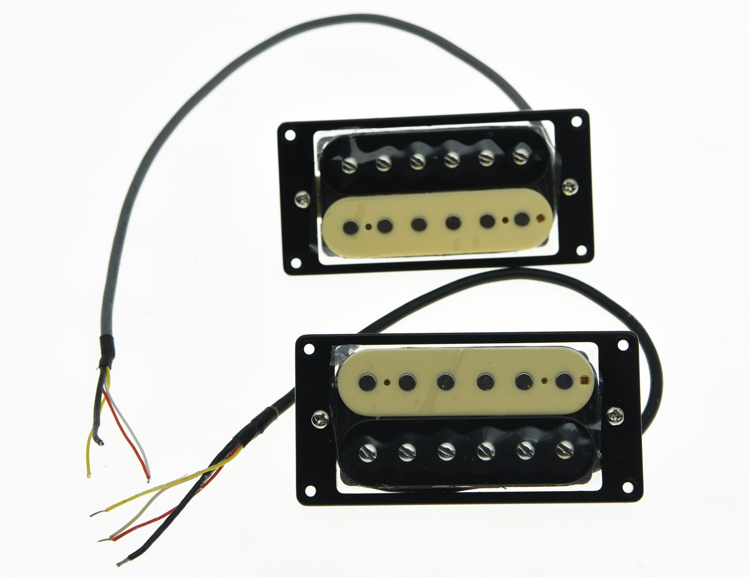 KAISH Set of 2 Zebra 50's Vintage Sound Pickups Alnico V Humbucker Neck&Bridge Pickup new humbucker pickup set gold four conductor wires alnico v pickups