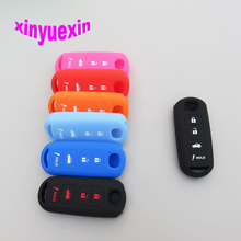 Xinyuexin Silicone Car Key Cover FOB Case For Mazda 3 5 6 8 CX5 CX7 CX9 M6 GT 2016 2017 Remote Car-stying With 4 Buttons